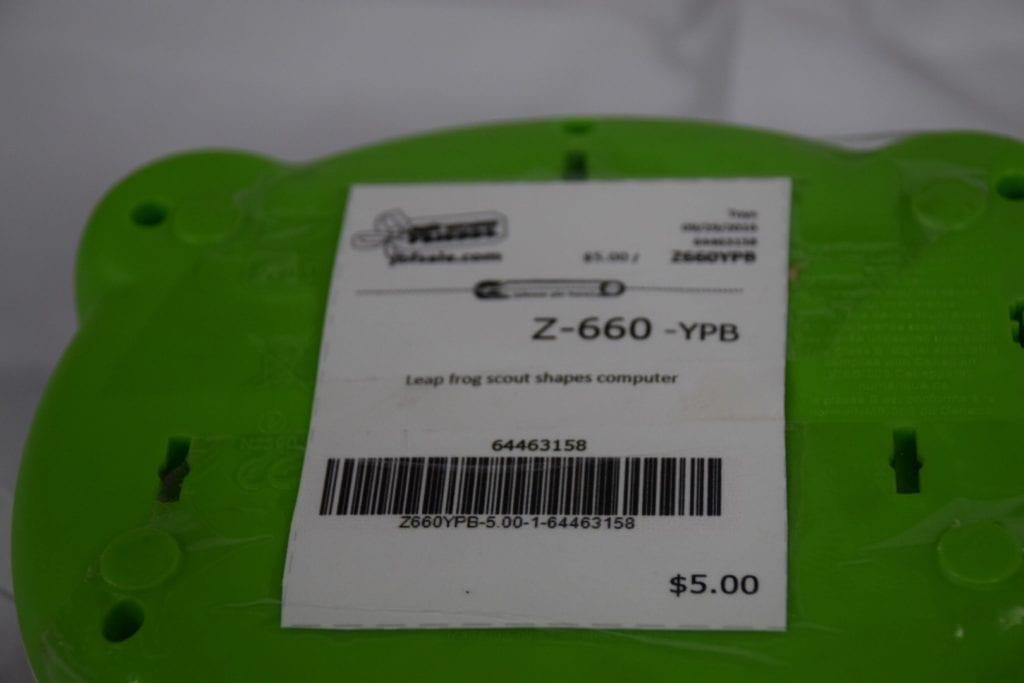 $5 price label on toy