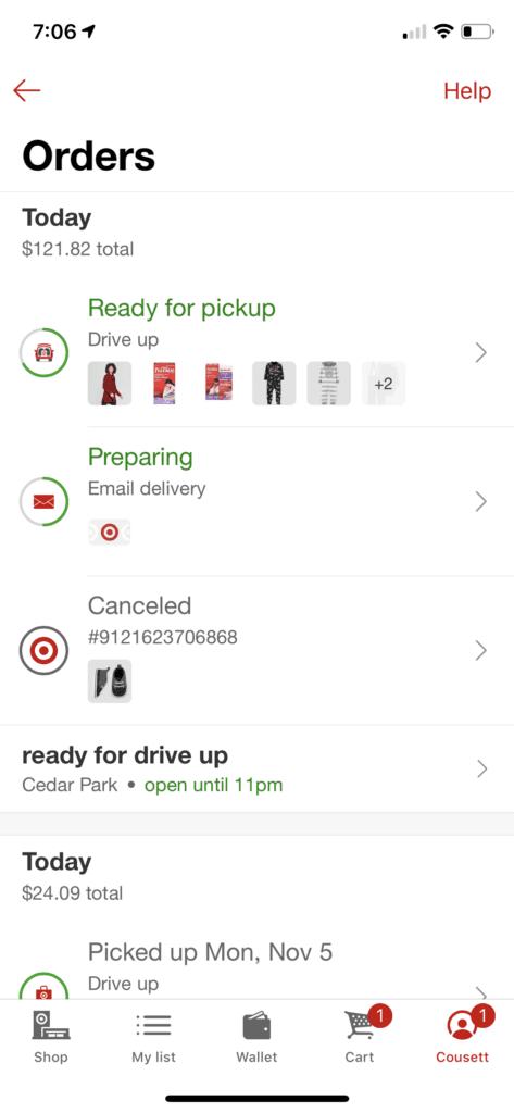 Target Curbside Screenshot