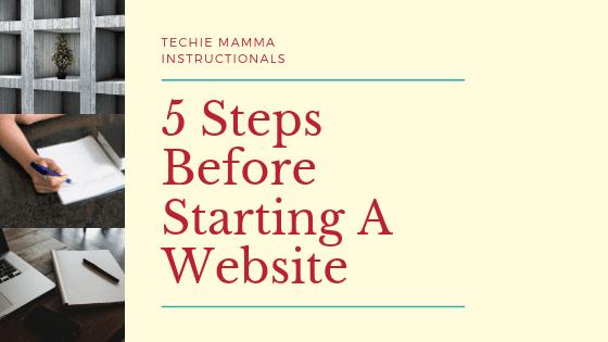 5 Steps Before Starting Website - Hero