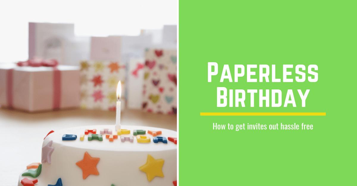 Paperless Birthday