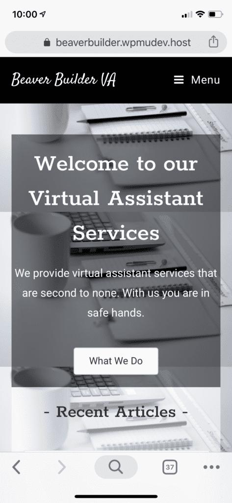 Beaver Builder VA Website