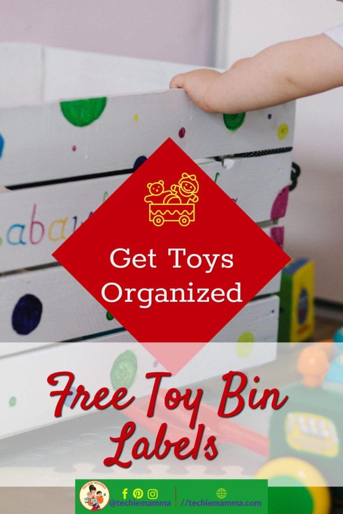 Free Toy Bin Labels Pin