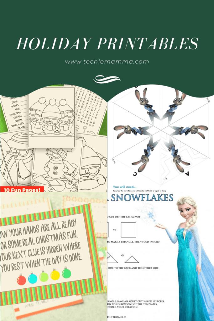 Christmas Printables for preschoolers