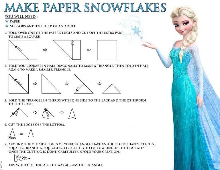 Frozen Snowflakes Printables