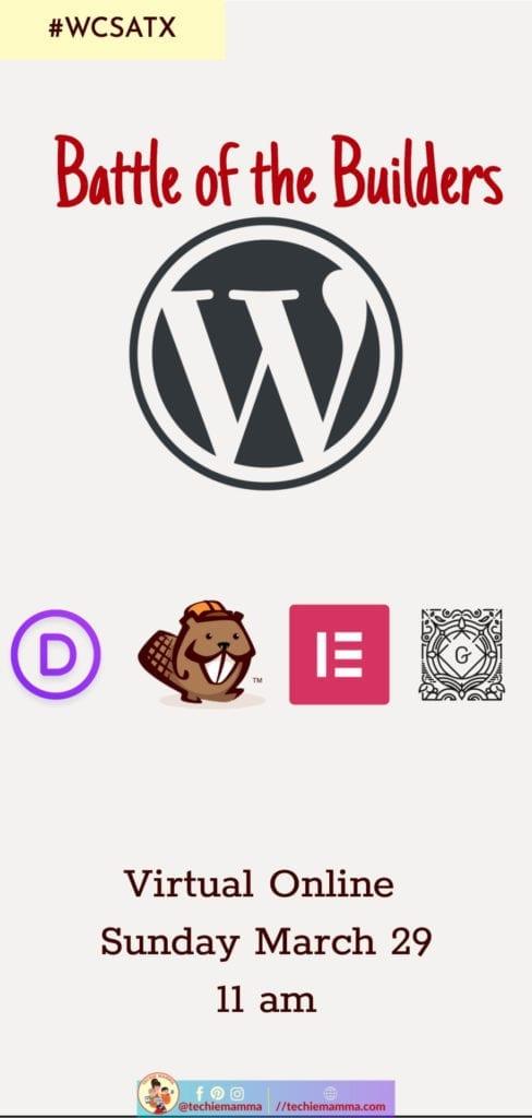 WordCamp WordPress Page Builder Compared Divi Beaver Builder Elementor Gutenberg