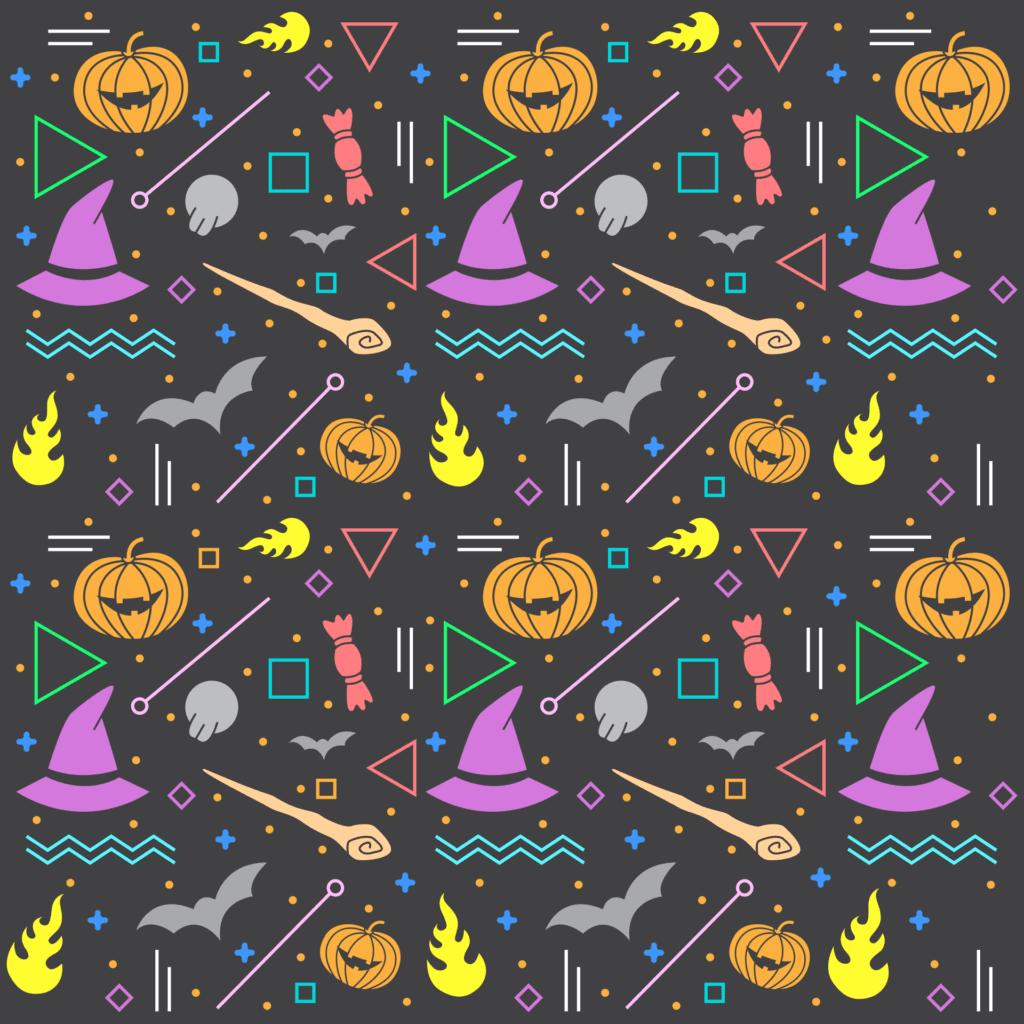 pattern, halloween, bats