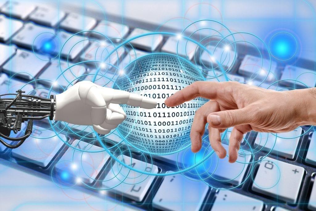 hand, robot, human