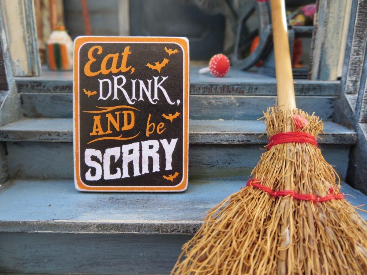 witchy Halloween scene